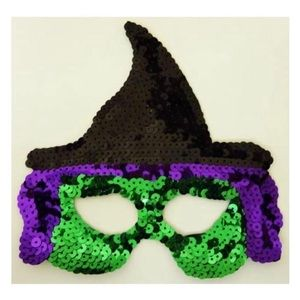 Sequin Witch Eye Mask Spooky Halloween
